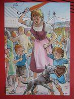 Fritz Loehr - Künstlerkarte Humor- Bzw. Werbekarte Für Pharma Chemiewerk Homburg: Oktoberfest Od. Kirchtag / Hund - Humor