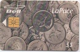 Canada Bell : La Puce 5$ : Pièces 25¢ Canadiennes - Timbres & Monnaies