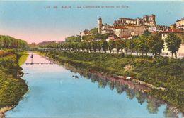 France - Gers - Auch - La Cathédrale Et Bords Du Gers - Cap Nº 46 - Colorisée, écrite - 4670 - Auch