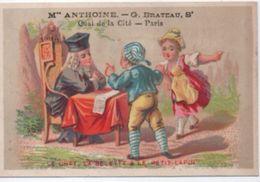 Chromo /Le Chat La Belette & Le Petit Lapin/Maison ANTHOINE Brateau/Quai De La Cité/Paris/Vers1880           IMA373 - Otros