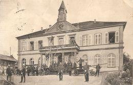 CPA  68 SIERENZ - 25 ANS DES SAPEURS POMPIERS DE SIERENZ CARTE DE 1911 - France