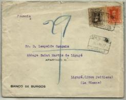 España Nº 318-320 En Sobre - 1889-1931 Kingdom: Alphonse XIII