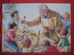 Fritz Loehr - Künstlerkarte Humor- Bzw. Werbekarte Für Pharma Chemiewerk Homburg: Leihopa / Schach Chess, Kanarienvogel - Humour