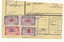 D123A -België  Spoorweg Chemin De Fer Fragment Met Stempel ANTWERPEN OOST - 1923-1941