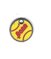 ' Jeton De Caddie  Argenté  Fond  Jaune  PENN - Trolley Token/Shopping Trolley Chip