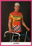 Cycliste - Cyclisme - JOS HAEX - Hitachi - Sunair - Sponsor - Pub - Ciclismo