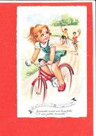 ENFANT VELO Cpsm  Animée Jéanette Avait Une Bicyclette  Coll MD - Dessins D'enfants