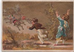 Chromo à Fond Doré /Voleurd'Anes/ Ameublement/Rue De Rivoli/ Maison I Lazard/Paris/Jehenne/Vers 1880  IMA377 - Cromos