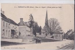 Carte 1915 NONANT LE PIN / PLACE DE L'EGLISE ET L'ORME PLANTE PAR SULLY - Frankreich
