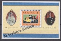 British Indian Ocean 1997 Yvert BF 8,Golden Wedding H.M Queen Elizabeth II & H.R.H. Prince Philip - Miniature Sheet- - British Indian Ocean Territory (BIOT)