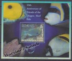 British Indian Ocean 2002 Yvert BF 19, 10th Anniversary Of Friends Of The Chagos/ Reef Fish - Miniature Sheet- MNH - British Indian Ocean Territory (BIOT)