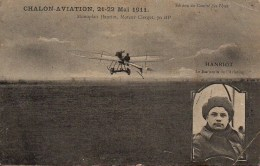 Aviation  Chalon Aviation 21-22 Mai 1911  Monoplan Henriot Moteur Clerget 70HP - Reuniones