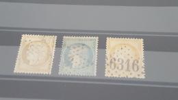 LOT 387515 TIMBRE DE FRANCE OBLITERE N°36 A 38 - 1870 Siège De Paris