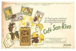 BUVARD CAFÉ SAN RIVO - DIFFUSION PHILATÉLIQUE - IMPORTATION BALESTIÉ - SAO PAULO BRÉSIL - BRAZIL - Coffee & Tea