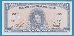 CHILE ½ Escudo (50 Centésimos)NDSerie G24 P# 134A - Chile