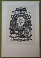Ex-libris Illustré Suisse XXème - SCRIPTORII PRATALEENSIS - Ex Libris