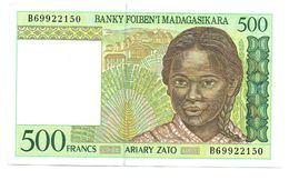 Billet - MADAGASCAR - 500F Type 1994-1995   Non Daté, Alphabet B 69922150 - Buffle - Madagaskar