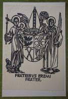 Ex-libris Illustré Suisse XXème - FRATRIBUS EREMI FRATER - Ex Libris