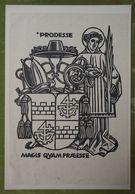 Ex-libris Illustré Suisse XXème - PRODESSE MAGIS QUAM PRAESSE - Ex Libris