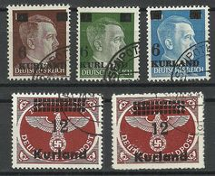 LETTLAND KURLAND Dt. Okkupation Michel 1 - 4 A U. B O - Lettland