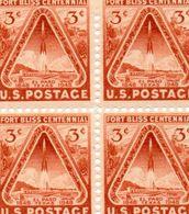 USA / Espace Lancement Fusée Au Texas Bloc 4 Valeurs Dentelées MNH Vente 1.00 Euros - United States