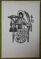 Ex-libris Illustré Suisse XXème - P. RUDOLF HENGGELER - NOTARII APOSTOLICI AD USUM - Ex Libris