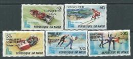 Niger  N° 503 / 07  XX Vainqueurs Aux Jeux Olympiques D'hiver à Lake Placid, Les 5 Valeurs Sans Charnière, TB - Niger (1960-...)