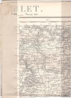 CARTE TYPE 1889 Révisé 1910  CHOLET - Topographische Karten