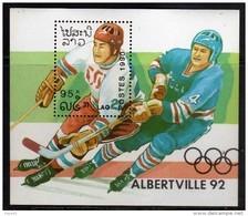 Laos B. F.  N° 110 XX  Jeux Olympiques D'hiver 1992 à Albertville,  Le Bloc Sans Charnière, TB - Laos