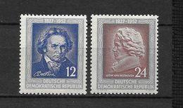 LOTE 1656  ///  (C010)  ALEMANIA ORIENTAL DDR   YVERT Nº: 52/53 *MH  //   CATALOG.2014/COTE: 3 € - [6] República Democrática
