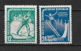 LOTE 1656  ///  (C010)  ALEMANIA ORIENTAL DDR   YVERT Nº: 50/51 *MH  //   CATALOG.2014/COTE: 7 € - [6] República Democrática