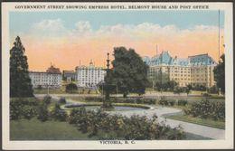 Government Street, Victoria, British Columbia, C.1910s - Postcard - Victoria