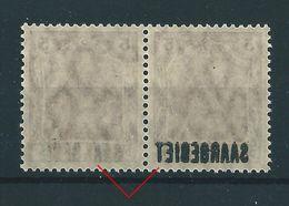 Saar MiNr. 44 ** Paar 1x Mit Abklatsch (sab44) - 1920-35 League Of Nations