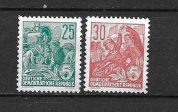 LOTE 1656  ///  (C010)  ALEMANIA ORIENTAL DDR   YVERT Nº: 127/128 *MH  //   CATALOG.2014/COTE: 6 € - [6] República Democrática