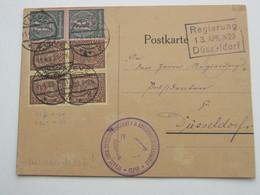 1922 , CLEVE , Klarer Stempel Auf Karte, Eckmangel - Alemania