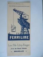Vloeipapier Buvard Ferriline Protection Construcions Métaliques Les Fils Lévy-Finger Bruxelles Form 10,7 X 25 Cm Utilisé - Verf & Lak