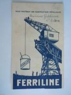 Vloeipapier Buvard Ferriline Protection Construcions Métaliques  Form 10,7 X 17,5 Cm Utilisé Manque Une Partie - Verf & Lak