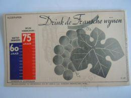 Vloeipapier Buvard Drink De Fransche Wijnen Promotion Vin Français Form 12 X 20 Cm - Drank & Bier