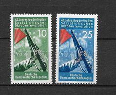 LOTE 1656  ///  (C010)  ALEMANIA ORIENTAL DDR   YVERT Nº: 329/330 *MH  // - [6] República Democrática