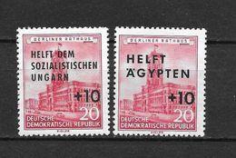 LOTE 1656  ///  (C010)  ALEMANIA ORIENTAL DDR   YVERT Nº: 282/283 *MH  // - [6] República Democrática