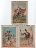 3 Chromos/Militaria/Café Restaurant/Chalet  Porte Jaune/Bois VINCENNES/Paris/Fontenay Sous Bois/Sicard/Vers1890   IMA384 - Trade Cards