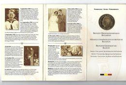 BELGIE - BELGIQUE M/33 Herdenkingsmedaille Boudewijn BRONS - 1993 - 1951-1993: Baudouin I