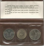Yugoslavia 1975 - 1983. Coin Set Sutjeska Neretva + 5 Dinara 1975 - Joegoslavië
