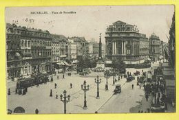 * Brussel - Bruxelles - Brussels * Place De Brouckère, Tram, Vicinal, Animée, Rare, Old CPA - Bruxelles-ville