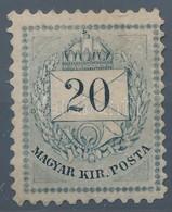* 1874 20kr 11 1/2 Fogazással RR! (145.000) - Timbres