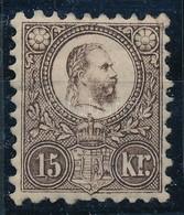 * 1871 Réznyomat 15kr Töredezett Gumi (120.000) - Timbres