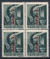 ** 1946 Betűs Any I. 4-es Tömb Fordított Felülnyomással  (80.000) - Timbres