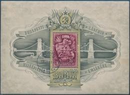 O 1949 Lánchíd III. Blokk Elsőnapi Bélyegzéssel (80.000) - Timbres