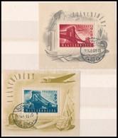 O 1948 Lánchíd I. és II. Blokkok Elsőnapi Bélyegzéssel (60.000) - Timbres
