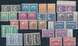 ** 1926 2 Db Pengő-fillér I. A Sor, Közte Párok (50.000) (ráncok / Creases) - Timbres